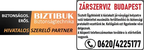 Zárcsere, zárszerviz, Budapest, hivatalos szerelő partner, biztonsági protokoll